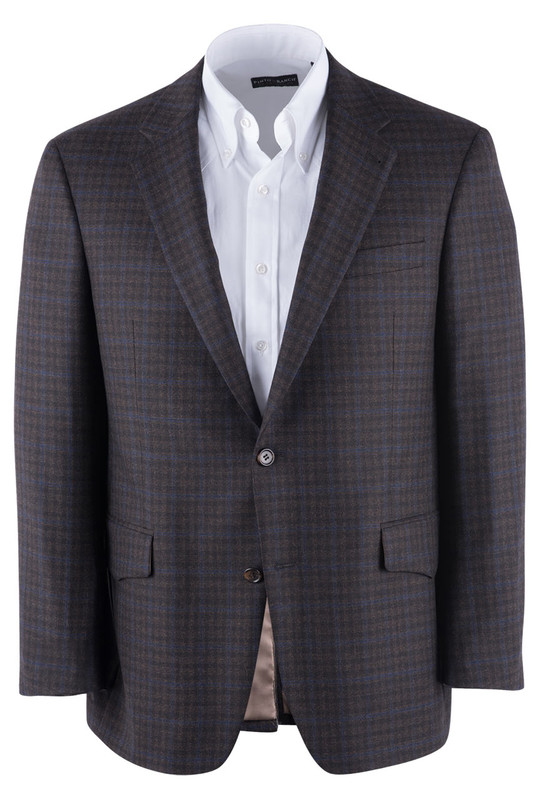 Brown Check Western Sport Coat - Front