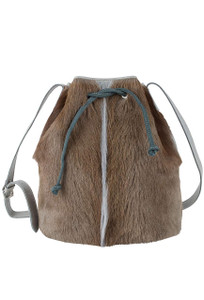 Kulu Brooke Springbok Bucket Bag - front