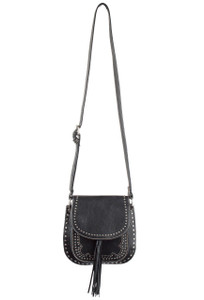 Shiraleah Skylar Black Saddle Bag - Back
