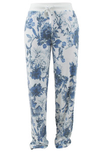 Pajamas - Blue Flower Pant - Front