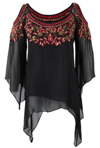 Vintage Collection Ruby Open Shoulder Top - Front