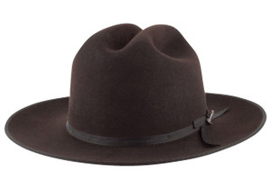 Stetson 6X Open Road Felt Hat - Chocolate