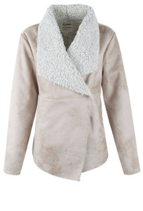 Dylan Shearling Snap Jacket - Front