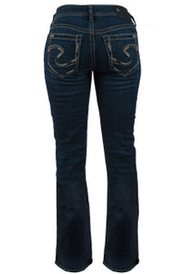 Silver Jeans Aiko Mid-Rise Slim Bootcut Jeans - Back