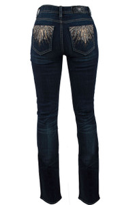 Miss Me Cascade Mid-Rise Bootcut Jeans - Back