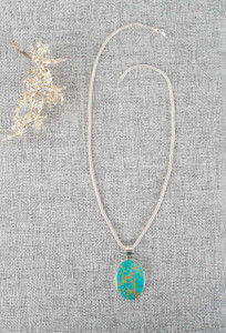 Kingman Turquoise Contemporary Oval Necklace