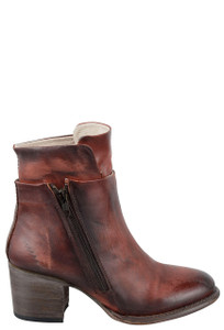 Freebird by Steven Women's Rust Clip Zipper Boots -Side