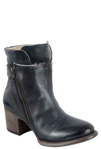Freebird by Steven Women's Navy Clip Zipper Boots