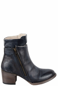 Freebird by Steven Women's Navy Clip Zipper Boots - Side