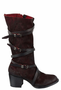 Freebird by Steven Women's Black Cherry Colin Boots - Side