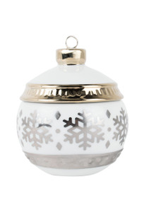 Warm Wool Snowflake Ornament Jar Candle