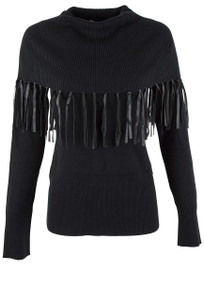 Evolution Fringe Cowl Neck Top - Front