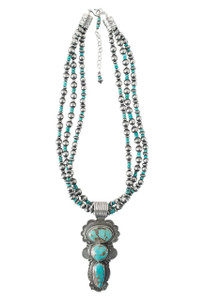Turquoise Moon Sierra Nevada Turquoise Pendant Necklace and Earring Set - Necklace