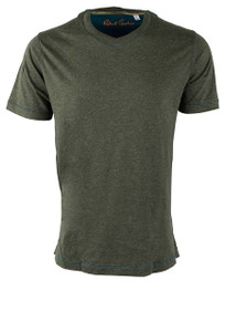 Robert Graham Nomads Heather Forest Green Tee - Front
