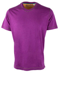 Robert Graham Nomads Heather Grape Tee - Front
