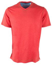 Robert Graham Nomads Heather Strawberry Tee - Front
