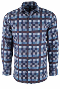 Pinto Ranch Rusty Blue Patch Shirt - Front