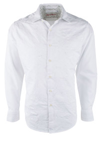 Robert Graham Onyx White Shirt - Front