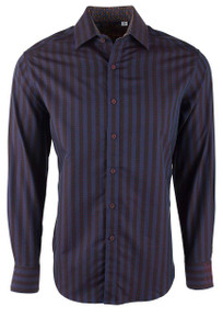 Robert Graham Fort Crown Navy Shirt - Front