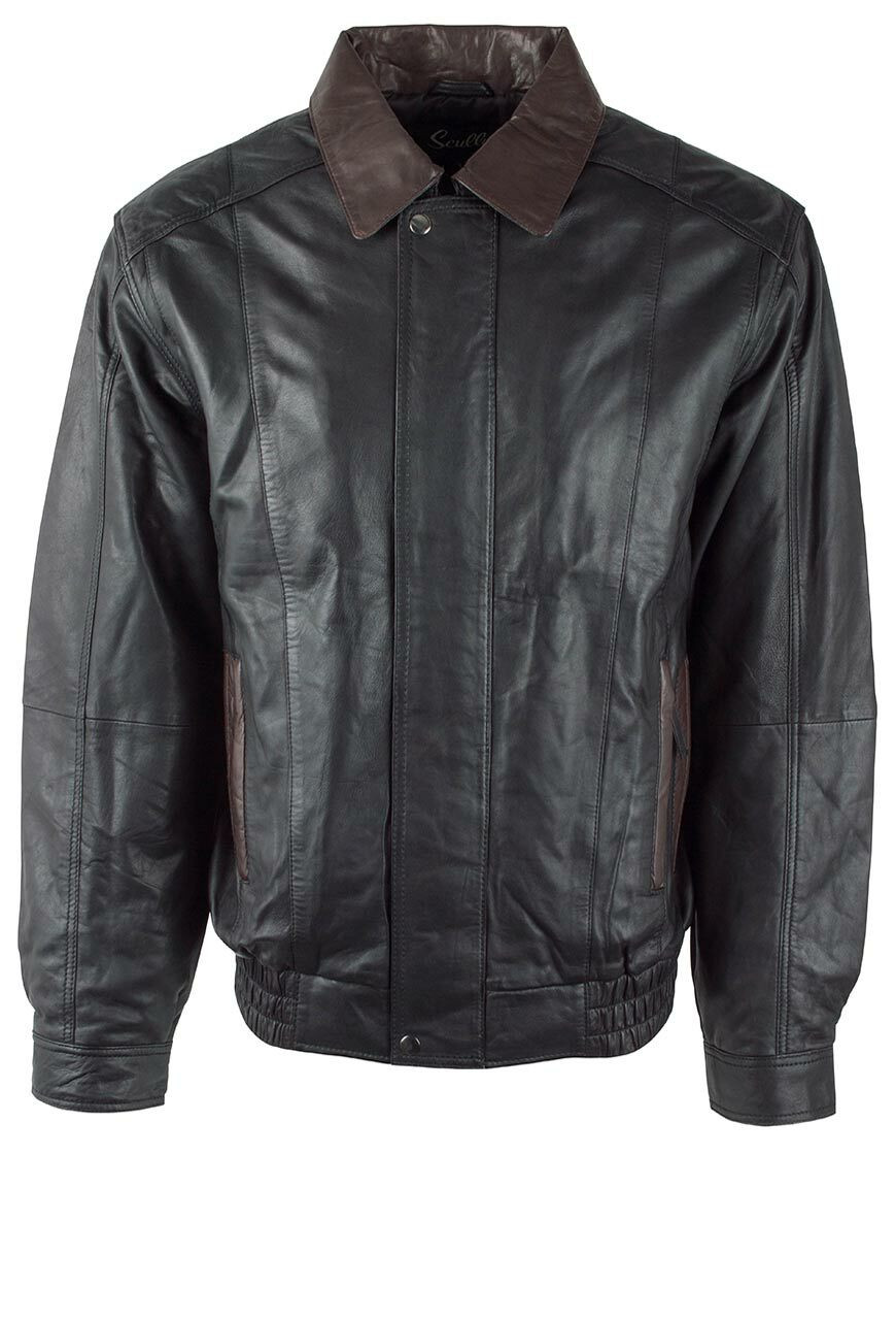 SCULLY BLACK AND CHOCOLATE LIGHTWEIGHT LAMB JACKET