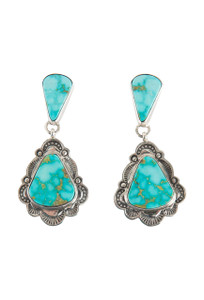 Turquoise Moon Natural Kingman Turquoise Earrings