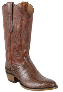Tony Lama Signature Series Men's Chasi Brown Nile Crocodile Belly Boots