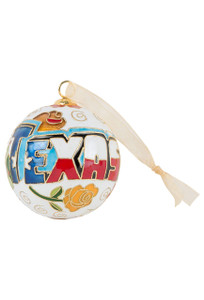 Texas Icons Cloisonne Ornament - Front
