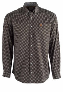 Cinch Black Diamond Print Shirt - Front