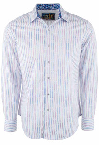 Robert Graham Bora White Stripe Shirt - Front