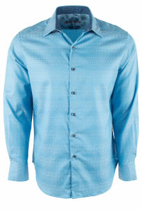 Robert Graham Lewiston Light Blue Shirt - Front