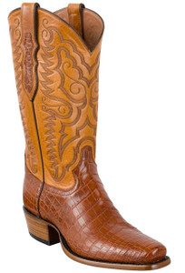 Tony Lama Signature Series Men's Brandy Vintage Nile Crocodile Belly Boots