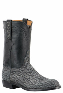 Lucchese Men's Gray Safari Elephant Roper Boots