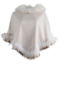 Dolce Cabo Racoon Poncho - Front