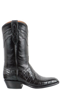 Black Jack for Pinto Ranch Men's Black Select Caiman Belly Boots - Side