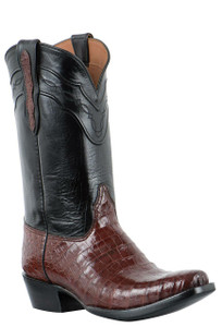 Black Jack Boots for Pinto Ranch Men's Italian Red Select Caiman Belly Boots -