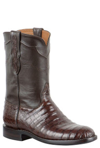 Edit a Product - Black Jack for Pinto Ranch Men's Chocolate Select Caiman Belly Roper Boots -