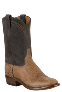 Rios of Mercedes Men's Peat Vintage Smooth Ostrich Roper Boots
