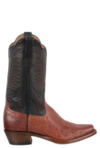 Rios of Mercedes Women's Almond Americano Smooth Ostrich Boots - Side