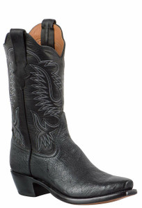 Rios of Mercedes Women's Black Smooth Ostrich Boots
