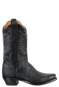 Rios of Mercedes Women's Black Smooth Ostrich Boots - Side