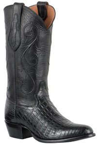 Tony Lama Signature Series Men's Black Nile Crocodile Belly Boots
