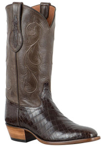 Tony Lama Signature Series Men's Chocolate Nile Crocodile Belly Boots