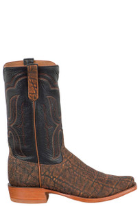 Rios of Mercedes Men's Cognac Safari Elephant Boots - Side
