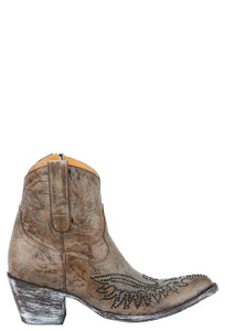 Old Gringo Women's Eagle Crystal Zipper Boots - Side