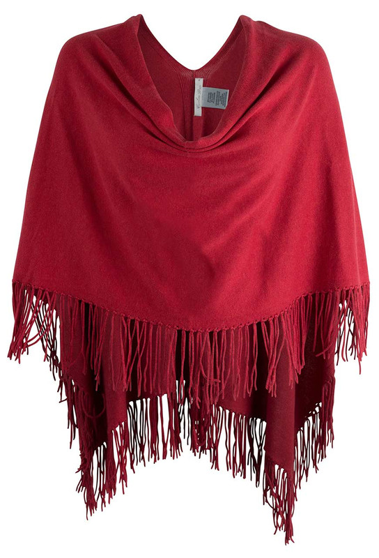 Carolina Grace Red Trade Winds Fringe Topper - Front