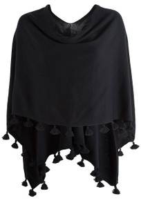 Carolina Grace Ebony Tassel Trim Topper - Front