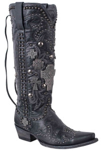 Double D Ranch by Old Gringo Black Ammunition Boots
