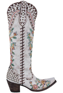 Double D Ranch by Old Gringo White Almost Famous Boots - Side