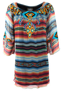 Vintage Sunshine Striped Tunic - Front
