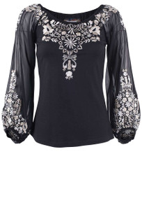 Vintage Collection Evening Garden Knit Top - Front